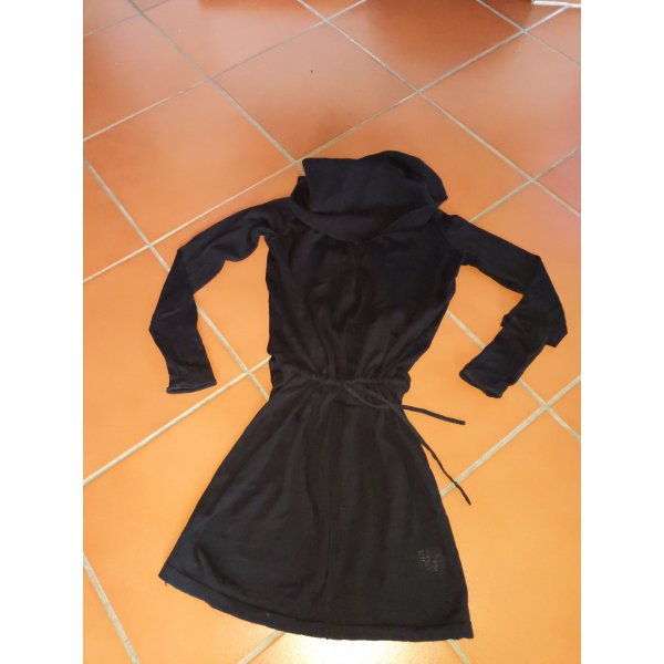 longpulli minikleid Pulli Pullover Tom Tailor Denim XS 34 schwarz Pulli Kragen