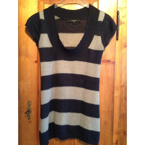 Longshirt Strick Pullover von Hallhuber gestreift Streifen XS Mohair Wolle