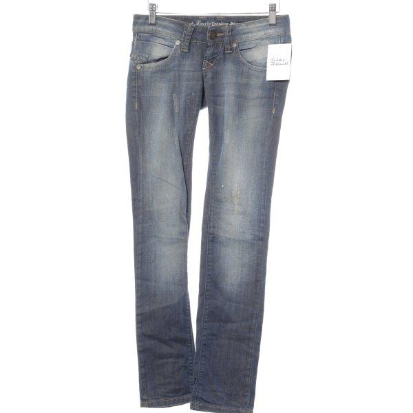 Lost in Paradise Straight-Leg Jeans blau Destroy-Optik