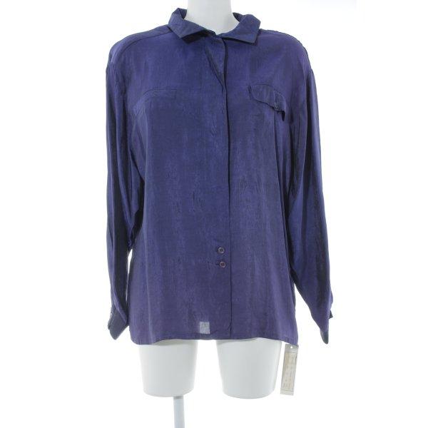 Louis London Vintage-Bluse blaulila