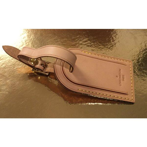 Louis Vuitton Adressanhänger aus Leder, ohne Initialien, wie neu!