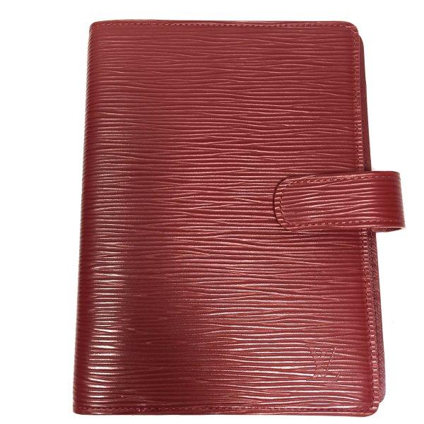 Louis Vuitton Agenda Fonctionnel MM Epi Leder Rot Kalender Terminplaner