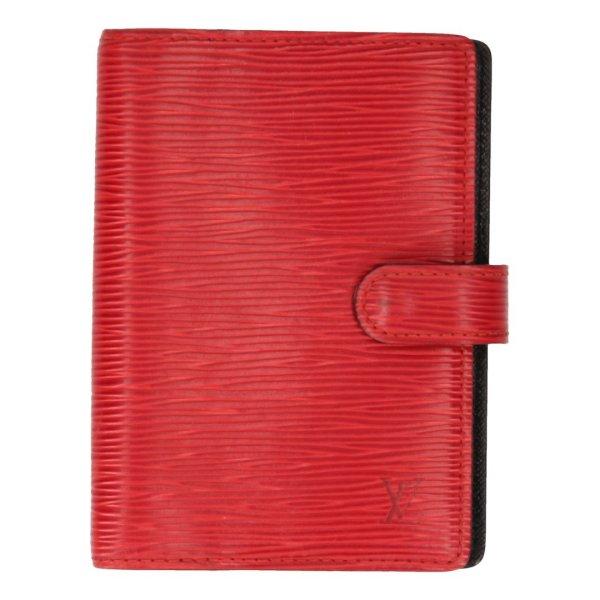 Louis Vuitton Agenda Fonctionnel PM aus Epi Leder in Castillian Rot Terminplaner, Kalender, Schreibmappe