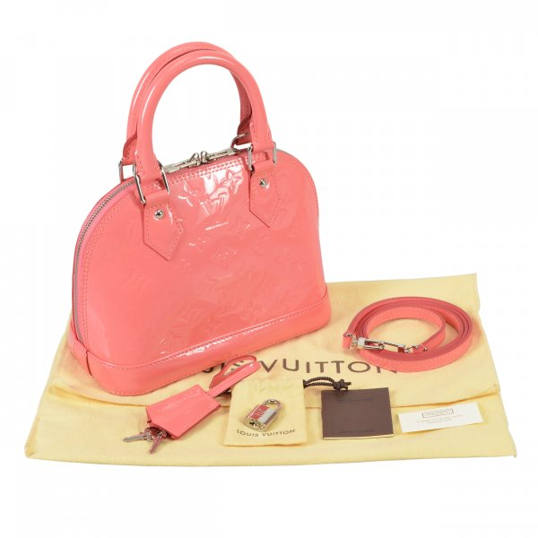 Louis Vuitton Alma BB Monogram Vernis Leder Poppy @mylovelyboutique.com