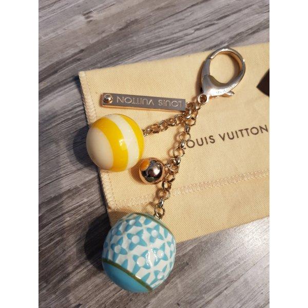 Louis Vuitton Porte-clés jaune primevère-bleu clair