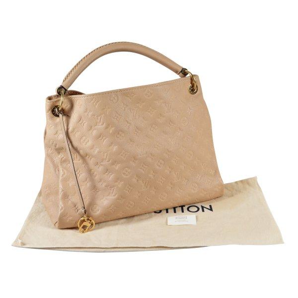 Louis Vuitton Artsy MM Mon. Empreinte Leder Handtasche Dune @mylovelyboutique.com