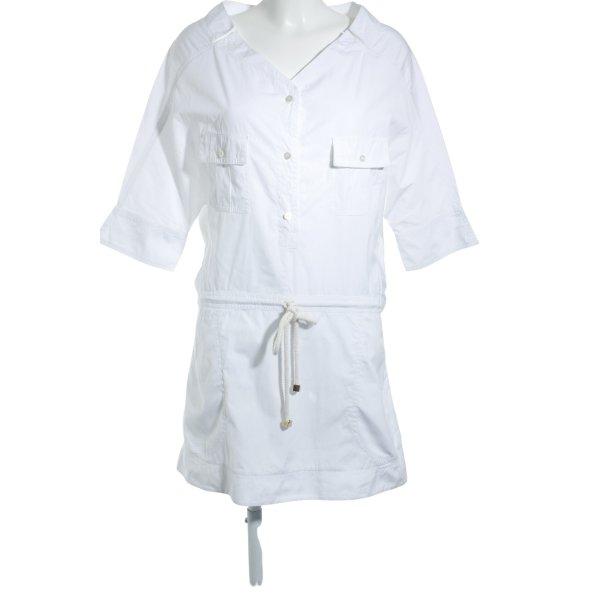 Louis Vuitton Blusenkleid weiß Transparenz-Optik