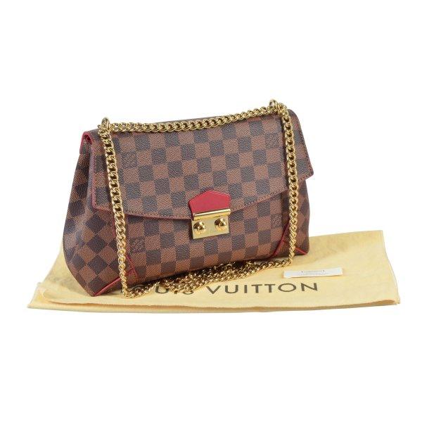 Louis Vuitton Caissa Clutch Chain Damier Ebene Handtasche @mylovelyboutique.com