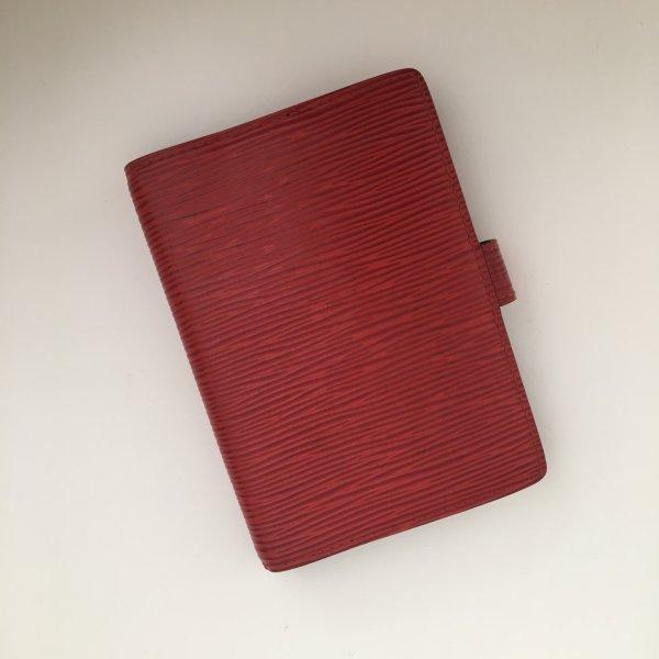 Louis Vuitton Epi Leder Agenda Fonctionel/ Planer in rot