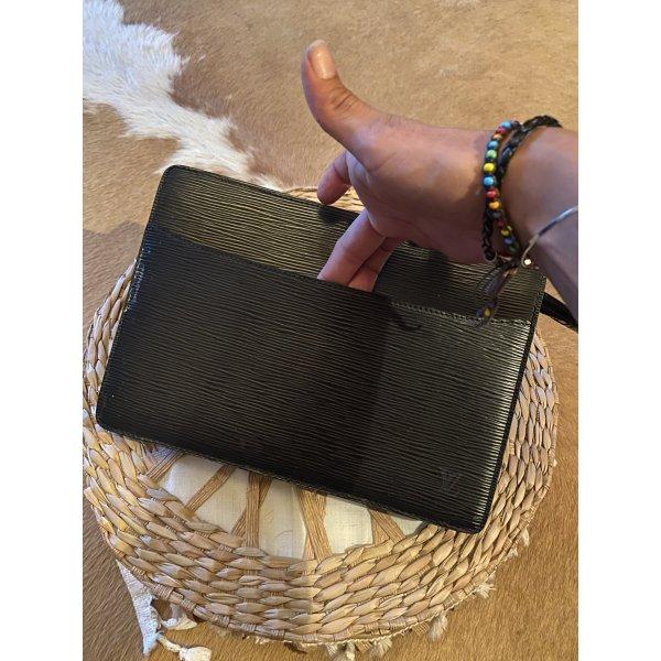 Louis Vuitton Epi Leder Pochette Clutch Tasche schwarz Handtasche Handbag