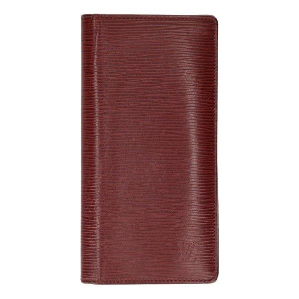Louis Vuitton Geldbörse Brazza aus Epi Leder in Bordeaux Brieftasche, Portemonnaie