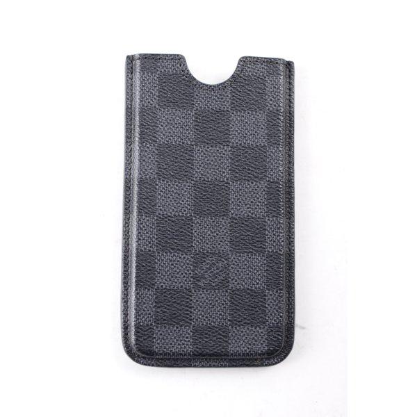 Louis Vuitton Handytasche schwarz-dunkelgrau Karomuster klassischer Stil