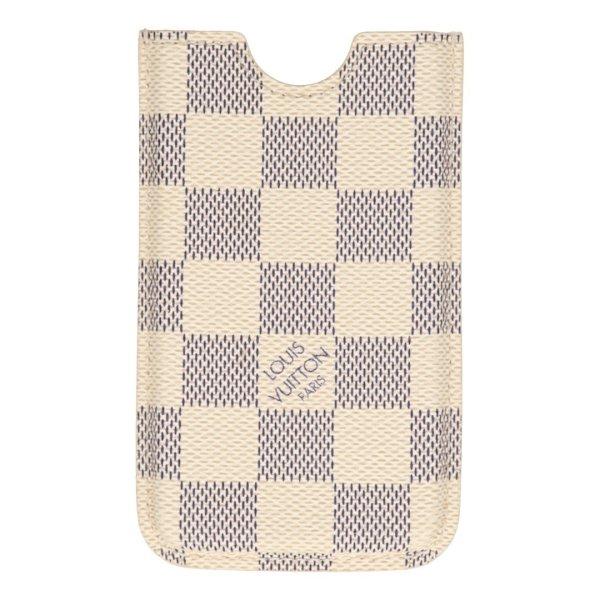 Louis Vuitton iPhone 4 Etui, Cover, Hülle, Case aus Damier Azur Canvas