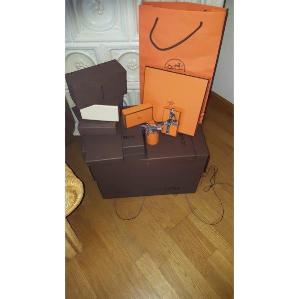 Louis Vuitton Kartons & Hermes Knotting Cards und Tüten
