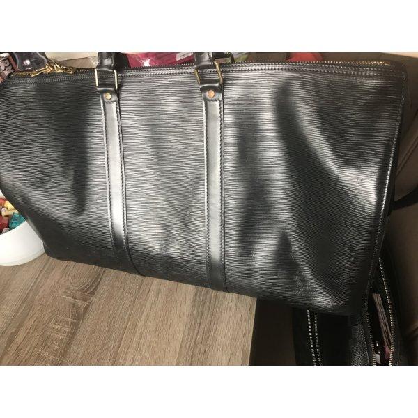 Louis Vuitton Keepall 50 Epi schwarz Leder