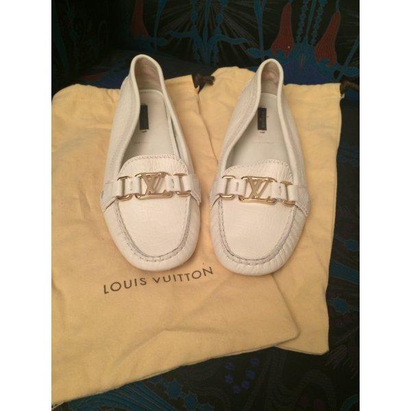 Louis Vuitton Chaussures blanc-brun sable cuir