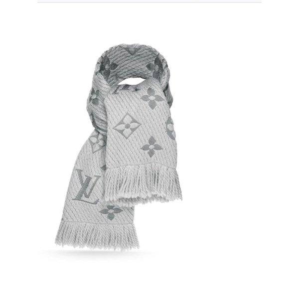 Louis Vuitton Logomania Schal Perlgrau inkl Rechnungskopie Grau ohne Umkarton