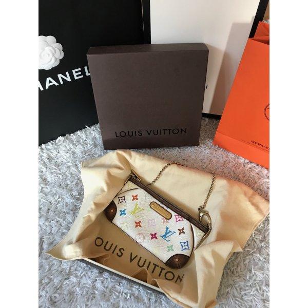 Louis Vuitton Milla Multicolor Pochette Top Clutch Luxus Tasche Handtasche Eva