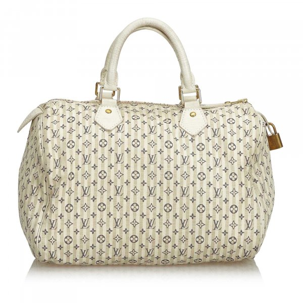 Louis Vuitton Mini Lin Croisette Speedy 30