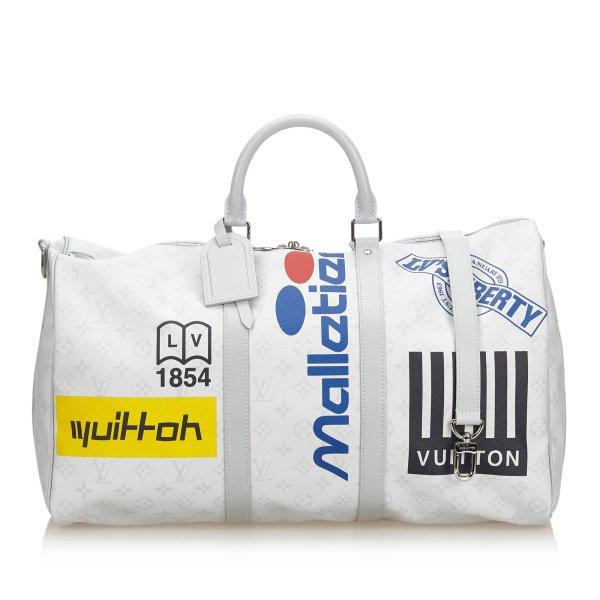 Louis Vuitton Monogram Antarctica Keepall Bandouliere Logo Story 50