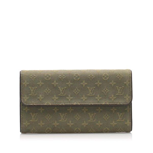Louis Vuitton Monogram Mini Lin Porte Tresor International Wallet