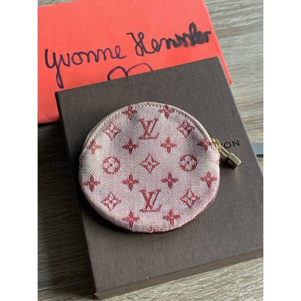 Louis Vuitton Monogram Mini Lin Portemonnaie Rond Cerise Cherry