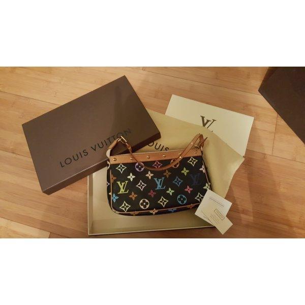 Louis Vuitton Monogram Multicolore Noir Pochette mit Rechnung und OVP