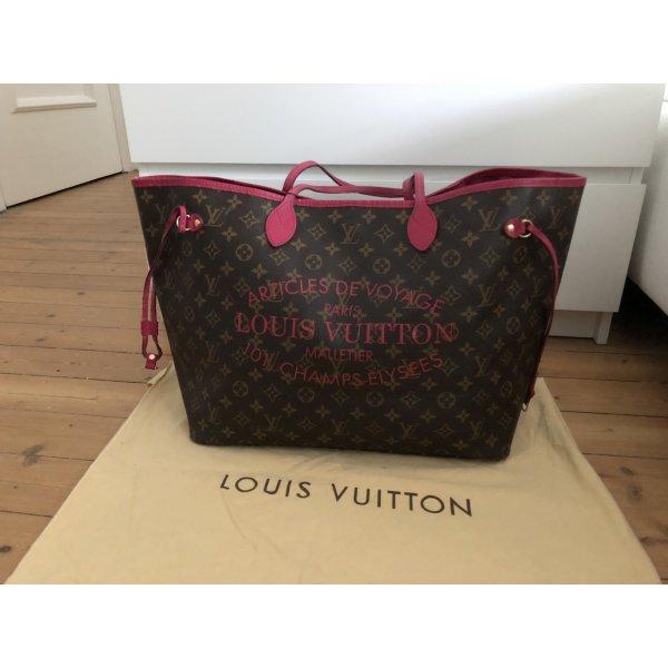 Louis Vuitton Neverfull GM Ikat Edition Limitiert Shopper Pink Rosa