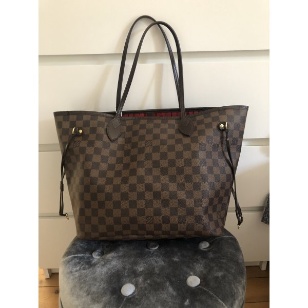 Louis Vuitton Neverfull MM Damier Ebene Canvas Top Shopper Tasche