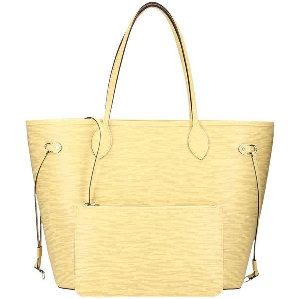 Louis Vuitton Sac à main jaune clair-argenté cuir