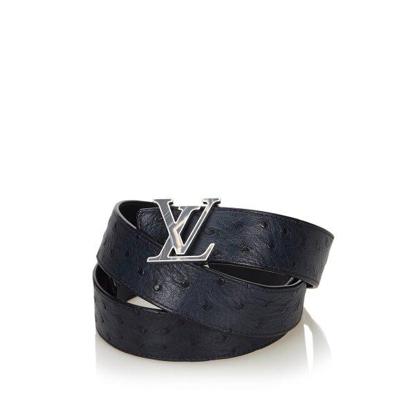 Louis Vuitton Ostrich Leather Initiales Belt
