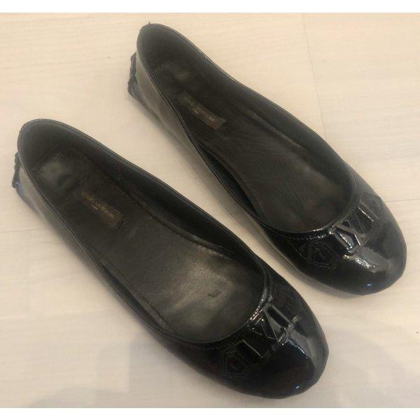 Louis Vuitton patent Leather Leder Logo Ballerinas 39