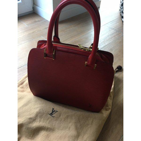 Louis Vuitton rote Epi-Leder Handtasche