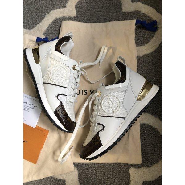 Louis Vuitton Run way sneaker Boots Trainer blanc Gold 36 Rechnung