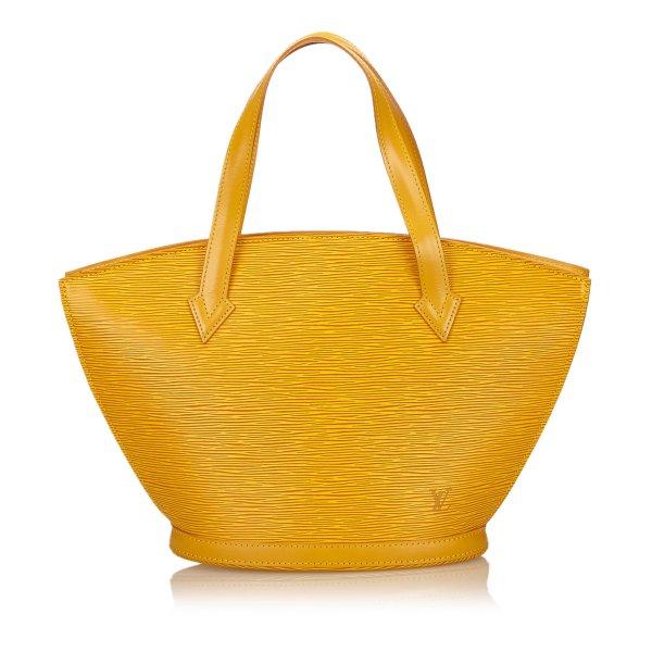 Louis Vuitton Handtas geel Leer