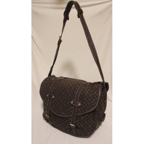 LOUIS VUITTON Saumur XL Monogram mini run shoulder bag canvas leather Brown (CA1006)