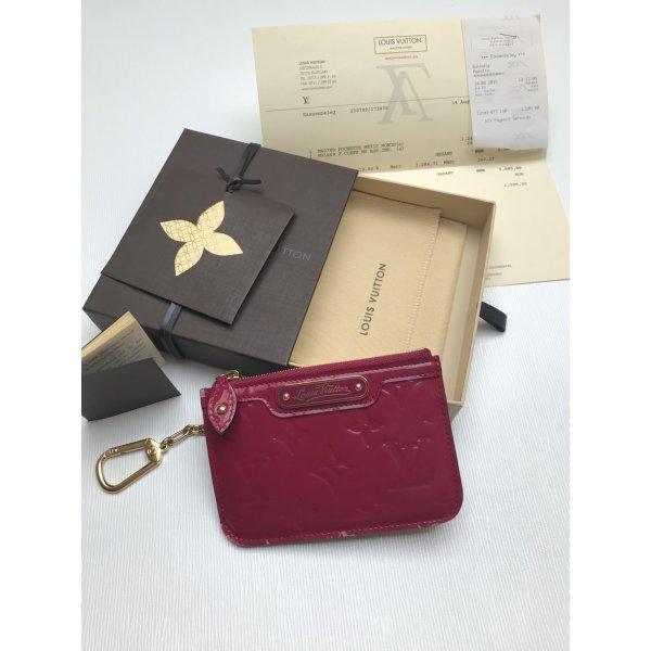 Louis Vuitton Schlüsseletui mit Karabiner Vernis pink NEU Fullset