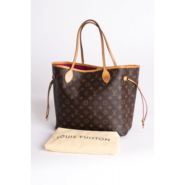 LOUIS VUITTON - Schultertasche Neverfull MM Monogram Canvas Pivoine