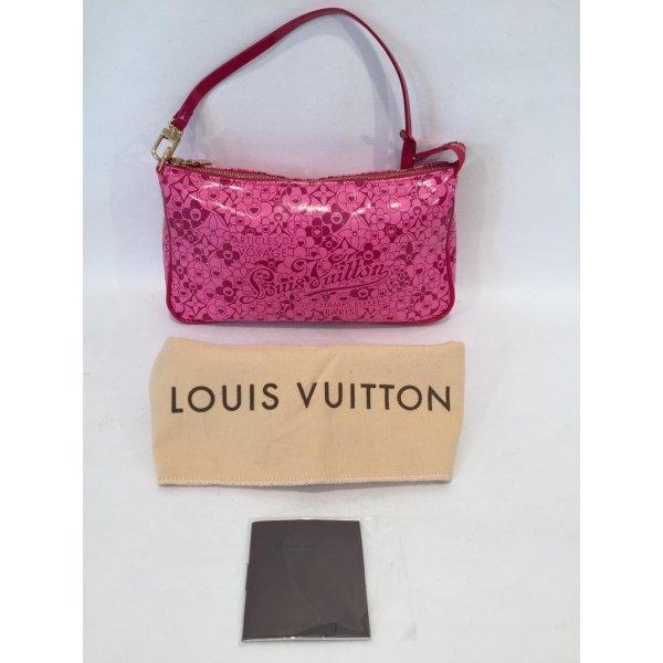 "Louis Vuitton Special Edition Pink Takashi Murakami Pochette ""Cosmic Blossoms"""