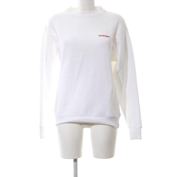 Love child Sweatshirt weiß Motivdruck Casual-Look