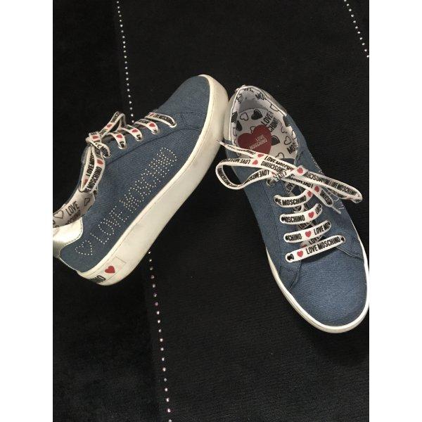 Love Modchino Sneaker Jeans mit weißer Sohle, Gr 38