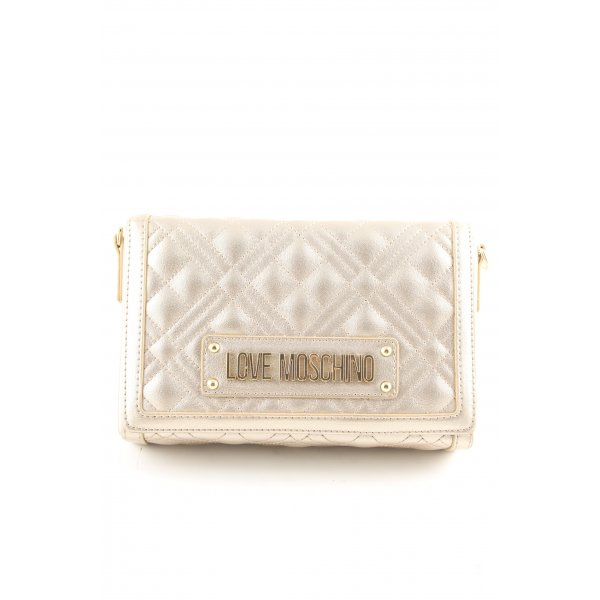Love Moschino Clutch goldfarben Steppmuster Casual-Look