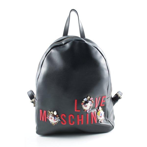 "Love Moschino Notebookrucksack ""Embroidered Jewel Backpack Nappa PU Nero"""