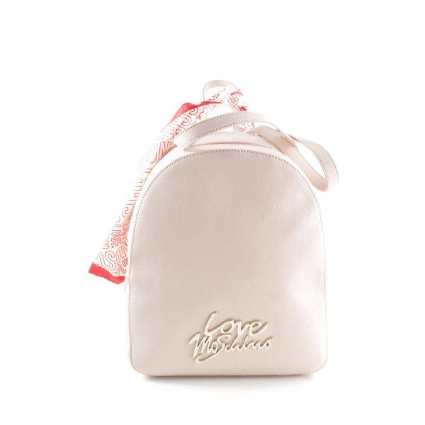 "Love Moschino Schulrucksack ""Logo Smooth Scarf Backpack Rosa"" rosé"