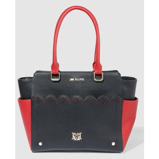 love moschino tasche handtasche mit kosmetiktasche m dchenflohmarkt. Black Bedroom Furniture Sets. Home Design Ideas