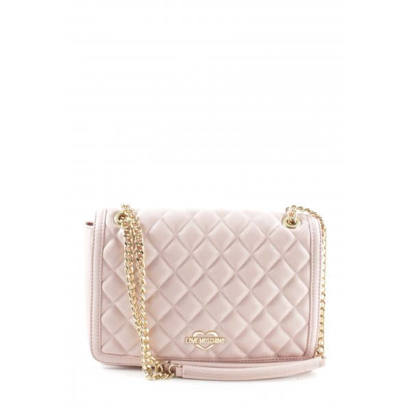 """Love Moschino Umhängetasche """"Quilted Nappa Chain Crossbody Bag Rosa"""" rosé"""