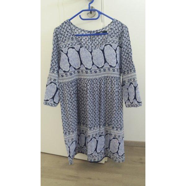LTB Vestido azul-blanco