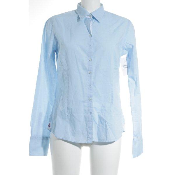 Lucky de Luca Langarm-Bluse hellblau klassischer Stil