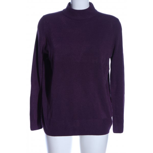 M&S Strickpullover lila Casual-Look