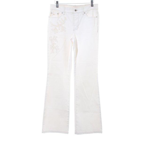 Mac Boot Cut Jeans creme Casual-Look